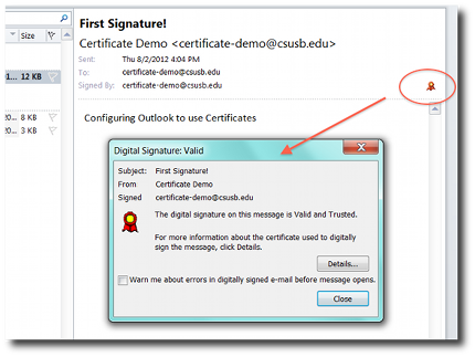 Signature stored outlook